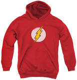 Youth Hoodie: DC Comics - Rough Flash Logo Pullover Hoodie