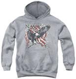 Youth Hoodie: Navy - Trident Pullover Hoodie