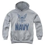 Youth Hoodie: Navy - Eagle Logo Pullover Hoodie