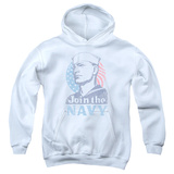 Youth Hoodie: Navy - Join Now Pullover Hoodie