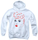 Youth Hoodie: I Love Lucy - Lines Face Pullover Hoodie