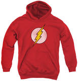 Youth Hoodie: DC Comics - Flash Logo Distressed Pullover Hoodie