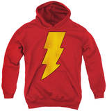 Youth Hoodie: DC Comics - Shazam Logo Distressed Pullover Hoodie