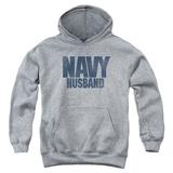 Youth Hoodie: Navy - Husband Pullover Hoodie