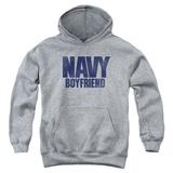 Youth Hoodie: Navy - Boyfriend Pullover Hoodie