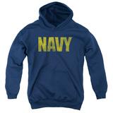 Youth Hoodie: Navy - Logo Pullover Hoodie
