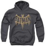 Youth Hoodie: Batman Classic TV - Vintage Logo Pullover Hoodie