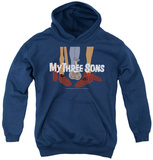Youth Hoodie: My Three Sons - Shoes Logo Pullover Hoodie
