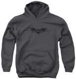 Youth Hoodie: Dark Knight Rises - Scratched Logo Pullover Hoodie