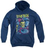 Youth Hoodie: Star Trek - Classic Crew Illustrated Pullover Hoodie