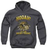 Youth Hoodie: Army - Hooah Pullover Hoodie