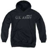 Youth Hoodie: Army - Helicopter Pullover Hoodie