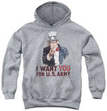 Youth Hoodie: Army - I Want You Pullover Hoodie