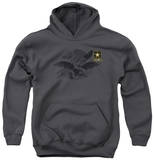 Youth Hoodie: Army - Left Chest Pullover Hoodie