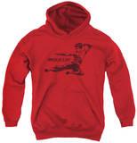 Youth Hoodie: Bruce Lee - Line Kick Pullover Hoodie