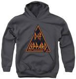 Youth Hoodie: Def Leppard - Distressed Logo Pullover Hoodie