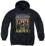 Youth Hoodie: Army - Go Army Pullover Hoodie