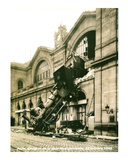 Accident de la Gare Montparnasse 1895 Poster