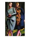 Irene and Her Sister Poster by Tamara de Lempicka