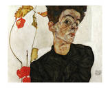 Autoportrait aux Alkekenges, c.1912 Prints by Egon Schiele