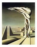 J'Ai Vu Trois Cites, 1944 Art by Kay Sage