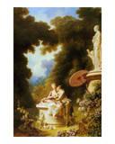 L'Amour-Amitie Poster von Jean-Honoré Fragonard
