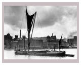 Royal Victoria Docks Docklands London Barge, 1934 Poster