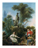 La Surprise Prints by Jean-Honoré Fragonard