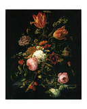 Flower in a Crystal Vase Print by Abraham Mignon