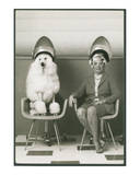Coneheads Lady and Poodle in Dryers, France Posters