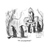 """It's post-gingerbread."" - New Yorker Cartoon Premium Giclee Print by James Stevenson"