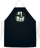 No.1 Dad Flames Apron Apron
