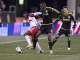 MLS: New York Red Bulls at Columbus Crew SC Prints by Greg Bartram