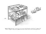 """""""Wait! Maybe they aren't just awesome bunk beds with cheese pillows!"""" - New Yorker Cartoon Premium Giclee Print by Jason Adam Katzenstein"""