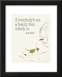 Everybody's Not a Beauty (Bird) Print by Andy Warhol