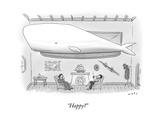 """Happy?"" - New Yorker Cartoon Premium Giclee Print by Kim Warp"