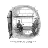 """You won' t believe how much I was paying for an apartment this size in Ne…"" - New Yorker Cartoon Premium Giclee Print by James Mulligan"