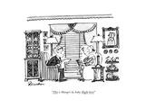 """""""This is Shangri-la, baby. Right here!"""" - New Yorker Cartoon Premium Giclee Print by Boris Drucker"""