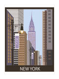 New York City. Vector Prints by  Ladoga