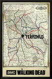 The Walking Dead - Terminus Map Posters