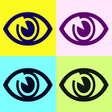 Eye Pop Art Style Background. Posters by  pedrolieb