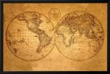 Mapa del Viejo Mundo Fotografía