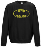 Crewneck Sweatshirt: Batman - Distressed Logo T-Shirt