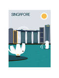 Singapore City. Plakaty autor Ladoga