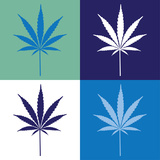 Four Cannabis Leaf Illustration Poster by  i3alda