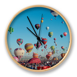 Albuquerque Balloon Fiesta, Albuquerque, New Mexico, USA Clock by Steve Vidler
