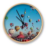 Albuquerque Balloon Fiesta, Albuquerque, New Mexico, USA Clock by Steve Vidler