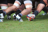 Rugby Scrum Photographic Print by Alison Bowden