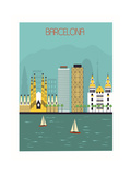 Barcelona. Reproduction giclée Premium par  Ladoga