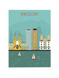 Barcelona. Kunstdruck von  Ladoga